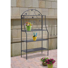 Metal Plant Holder Rack, Garden Outdoor Indoor Flower Baker Stand