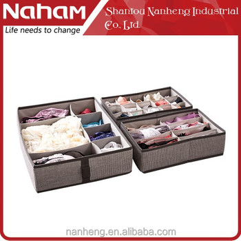 NAHAM Fabric Socks Storage Box/Sundries Organizer 8 Section Drawer