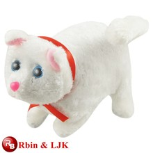 ICTI Audited Factory High Quality Custom Promotion plush toy white cat animated