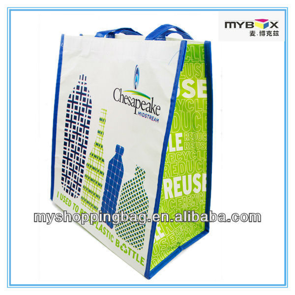 2017 New Type Eco friendly pp nonwoven Recycle PET carry bags