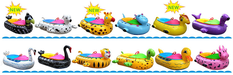 Fwulong Parenting Animal Tube Battery Indoor Outdoor Inflatable Electric Water Bumper Boat For Kids