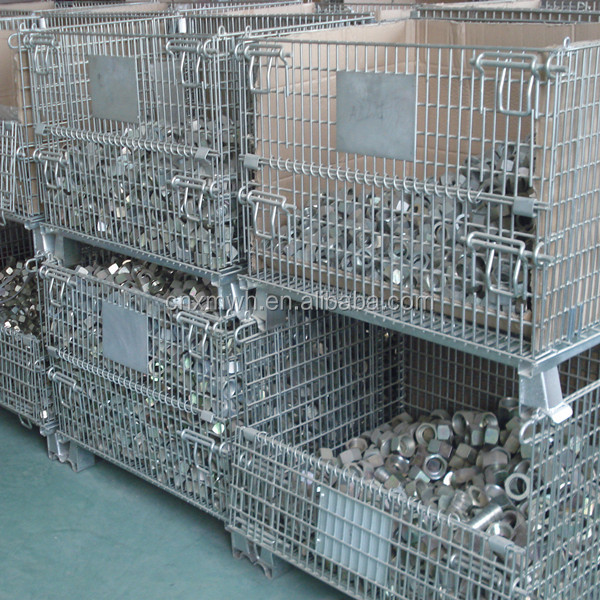 Metal mesh cage,industrial steel containers,pallet boxes for sale