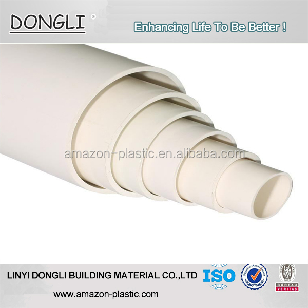 Low costs pvc waste water drainage pipe / upvc flexible pipe for drainage system