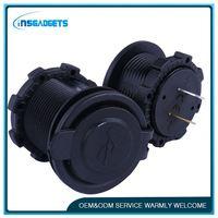 Usb socket car charger ,h0tsf universal 12v car/marine 2 port usb socket for sale