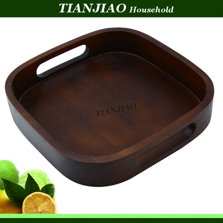 custom printed antique wooden food serving tray with handle