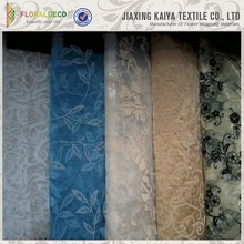 Organza material embroidered cheap wholesale fabric curtains