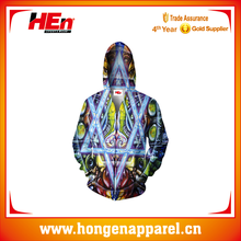 Sublimated Custom Design Throwback Power Fleece Full Zip Hoody