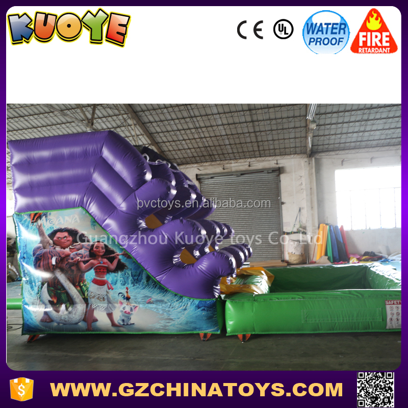 2017 purple mini water slide <strong>inflatable</strong> for yard