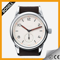 Top 10 fashion leather big round case for men classical black watch