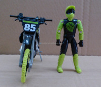 1:10 scale custom made vintage motorcycle model with pvc tires in dongguan
