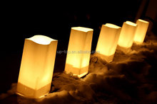 Top grade decoration candle bag colored luminary candle bags