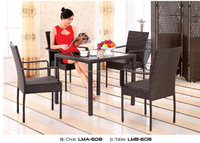 Restaurant Dinning Portable Metal Leisure Wire Patio Chair And Tables Set