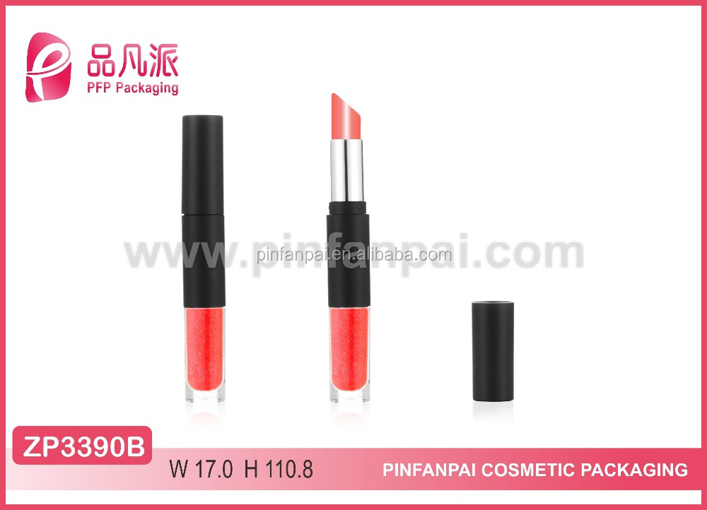 2017 double end lipstick container and lip gloss tube