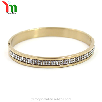 fashionable jewelry crystal bracelet stainless steel bangle bracelet