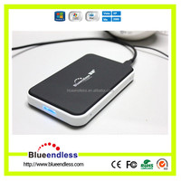 Portable Aluminum case 2.5'' HDD Enclosure support 1TB with usb 2.0 to IDE+SATA