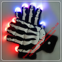 Halloween Decor LED Flashing Hand Bones Gloves