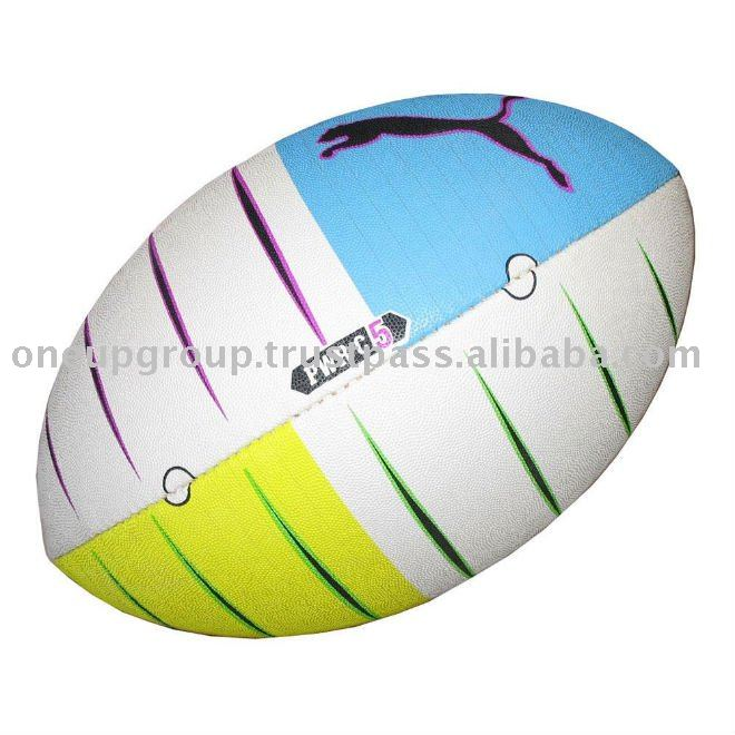 rugby ball, beach ball, mini ball