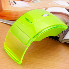 2015 new cute colors laptop 2.4g folding wireless mouse
