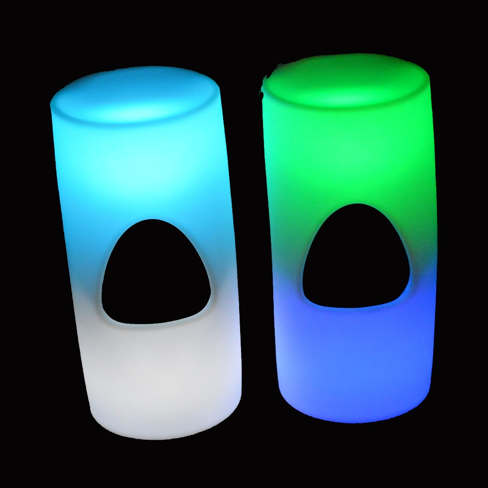 LED Light up Bistro Pub Restaurant LED Bar Stool with Color Change Remote