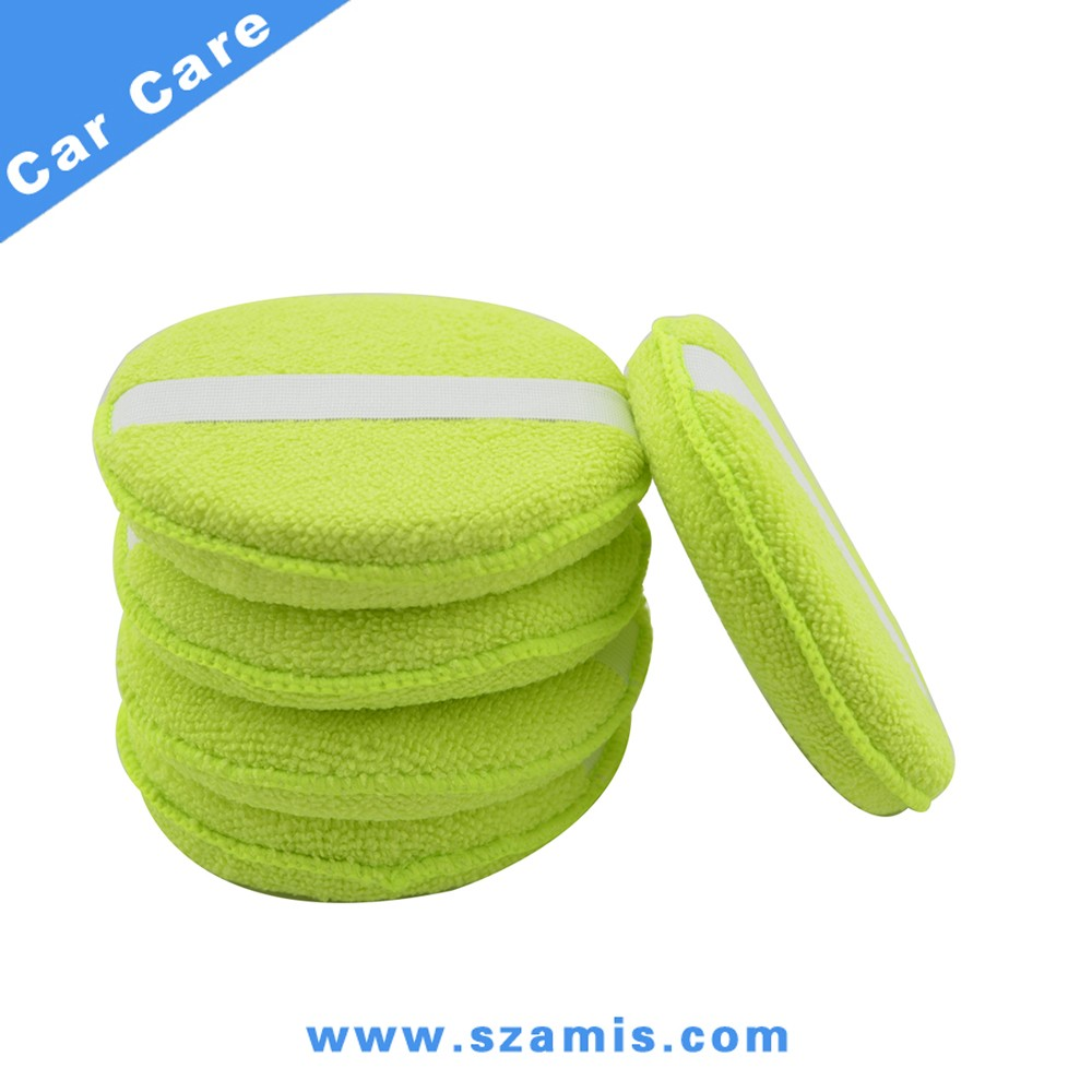Soft Microfiber Foam Sponge Car Wax Applicator Pad