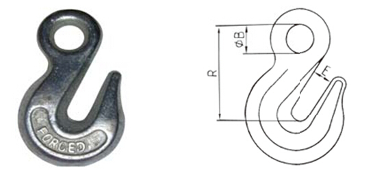 Drop Forged Crane Hook for Truck