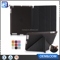 Hot Selling Ultra Slim Stand Fold Leather Case Smart Cover For Apple iPad 2 3 4 Paypal Accept