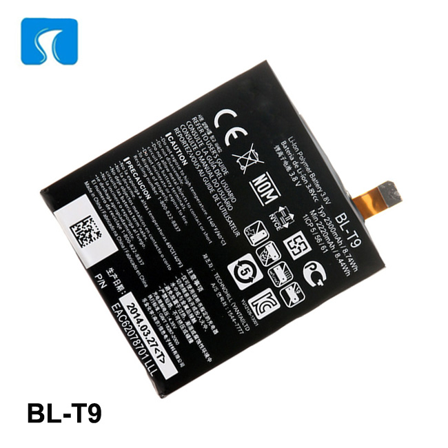 Cell phone parts 3.8V 2300mAh mobile phone battery BL-T9 for LG Nexus 5 D821 D820