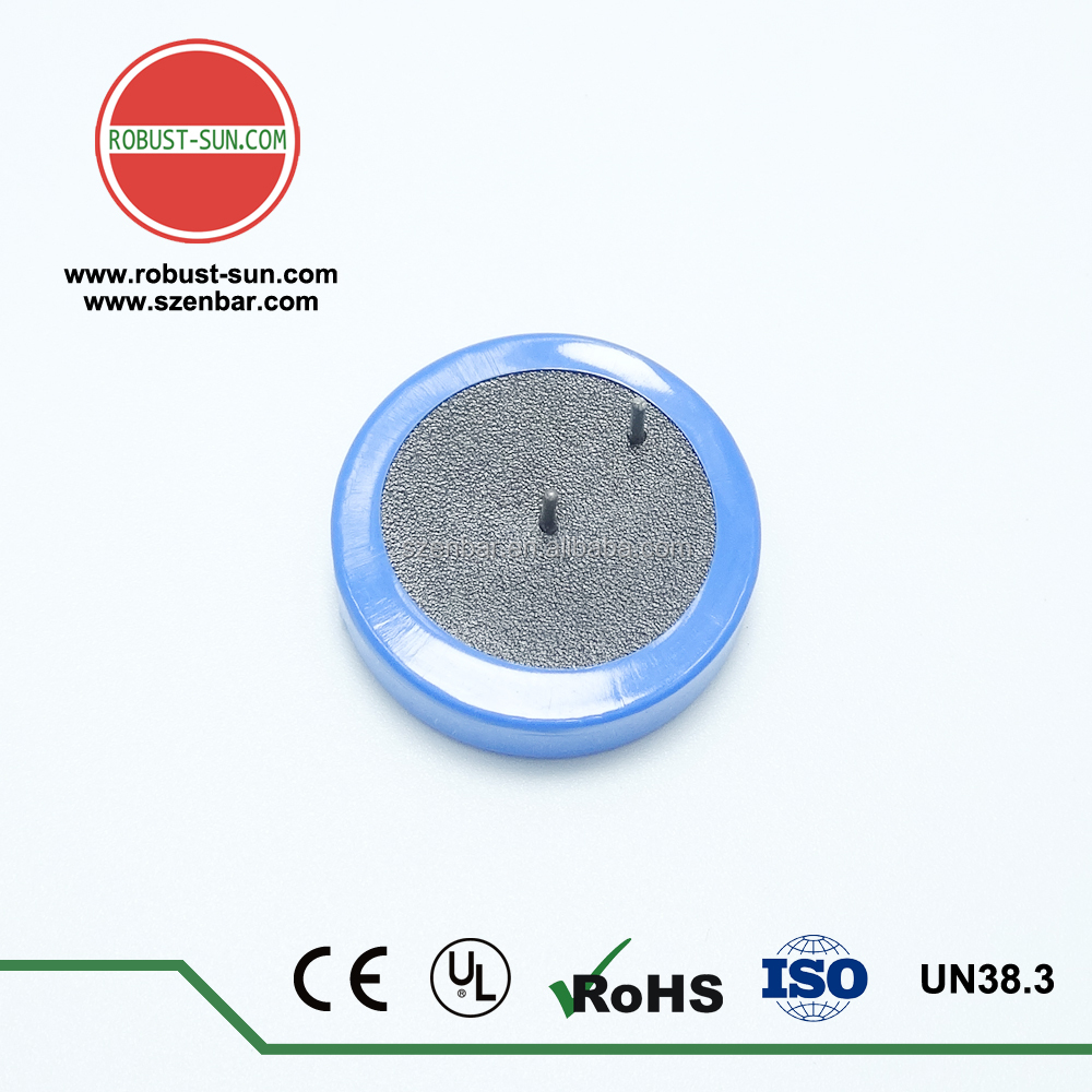 500mAh 3.6v ER2450 lithium button cell with tabs