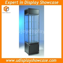 Glass revolving display cabinet with LED lighting