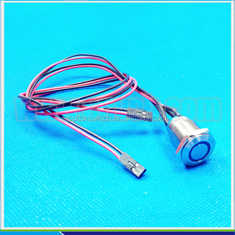 Popular 16mm flat round waterproof piezo switch IP68