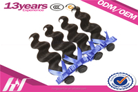 Sample Order Accept 7A 8A Body Wave Hair Extension, Human Hair Extension, 100% no tangle no shed human hair weave