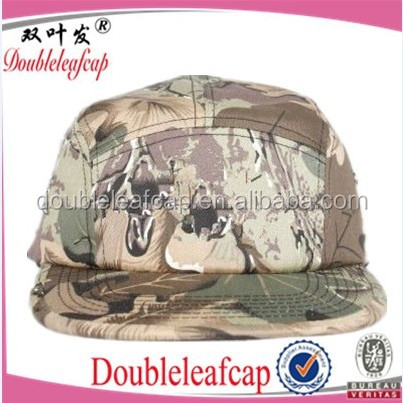 Doubleleafcap high quality custom 6 panel Cotton military hat