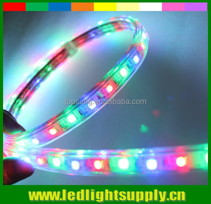 indoor outdoor battery powered trimmable RGB chasing 5050 flexible waterproof led strip 110v