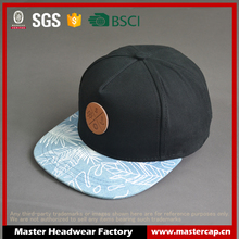 Custom high quality 100% cotton 5-panel snapback cap