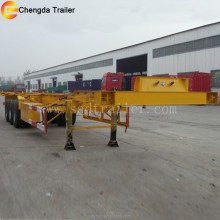twin axle skeleton trailer for container carrying usage better price than flatbed trailer