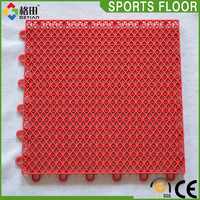 Popular colorful university used basketball flooring