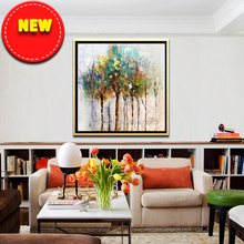 simple abstract natural tree canvas painting