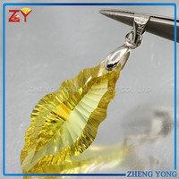 Cubic Zirconia Pendant,Yellow CZ Stone,Gemstone Price List