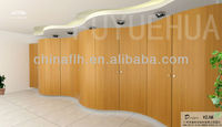 Curved Hpl Phenolic Compact Laminate Panel Washroom Toilet Cubicle