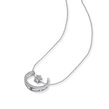 Yiwu C&L Jewelry fashion necklace plain women zirconia jewelry star necklace