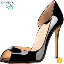 Phoees New Arrival Sexy Women High Heel Shoes Lady Party Wear Patent Leather Shoes For Women