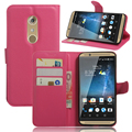 Flip cover PU leather case for ZTE AXON 7, with card slot and stand function,