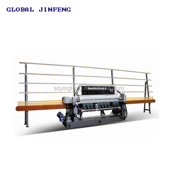 10motors Lifting system glass mirror beveling edge grinding machine price