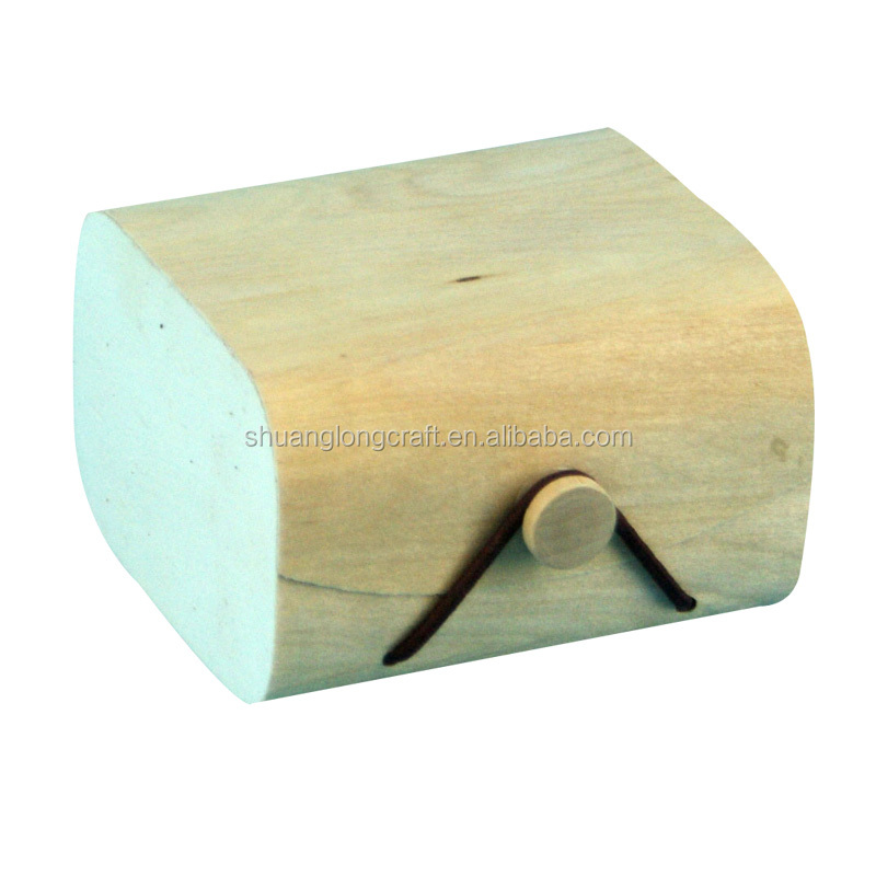 Small birch wood gift box, birch <strong>veneer</strong> packaging box