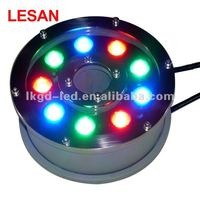 Long working time IP68 RGB LED underwater fountain jetting lights