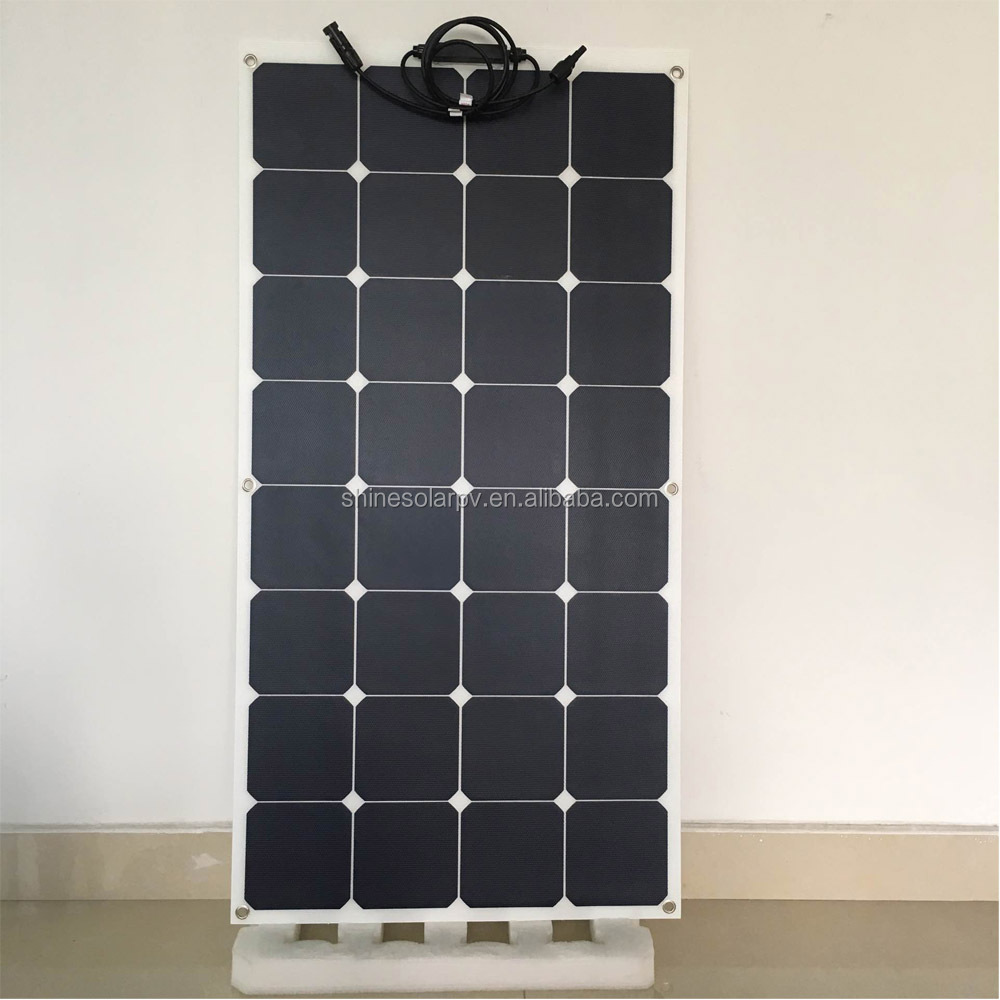 Solar Panel Whole Flexible 50W 75W 100W 120W 135W Photovoltaic ETFE Laminated Solar Panel Manufacturers in Shenzhen