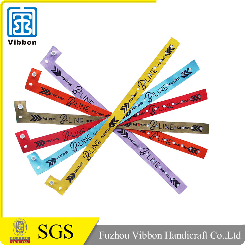 Popular Polyester event woven wristband