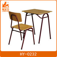 Single kids desk Kids plastic desk and chair set