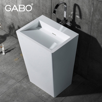 Foshan high quality sanitary ware freestanding pedestal basin