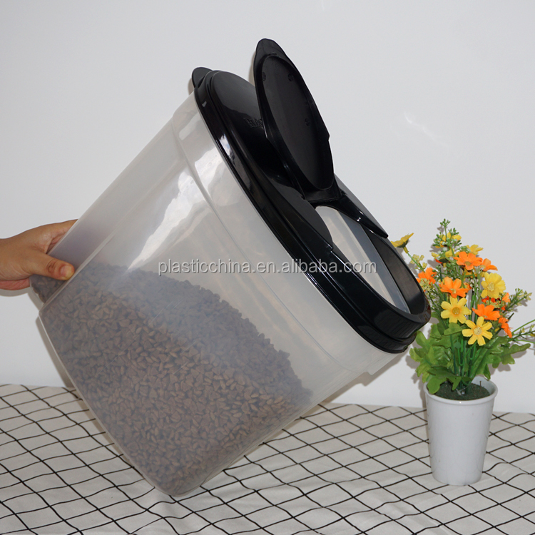 Small size design ceramic pet food storage box with lid